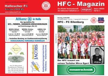 HFC - FC Eilenburg - Hallescher Fussballclub eV