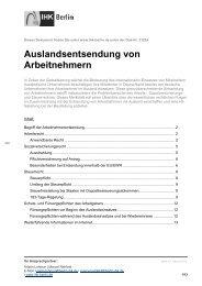 Merkblatt Auslandsentsendung von Arbeitnehmern - IHK Berlin