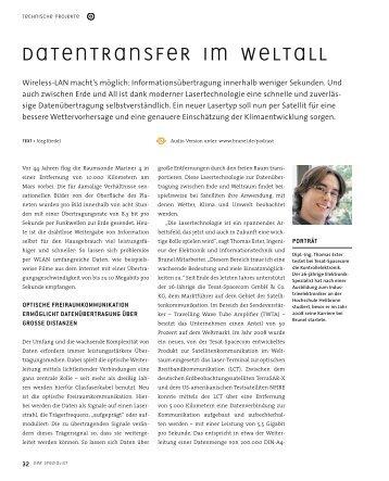Datentransfer im Weltall - Brunel GmbH