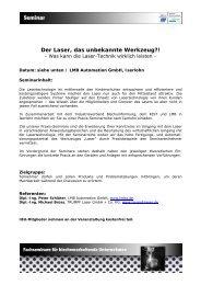 Der Laser, das unbekannte Werkzeug?! - LMB Automation GmbH