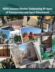 NEPA Success Stories - National Environmental Policy Act - U.S. ...