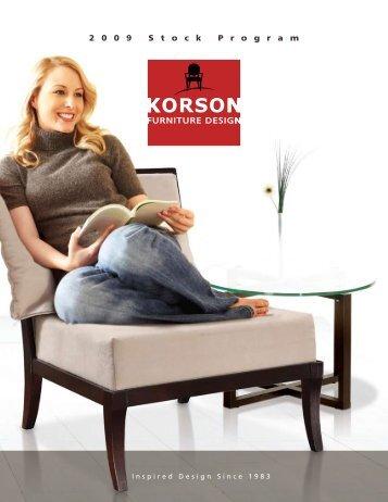 2 0 0 9 S t o c k P r o g r a m - Korson Furniture