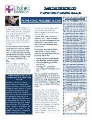 PREVENTING PRESSURE ULCERS - Oxford Healthcare