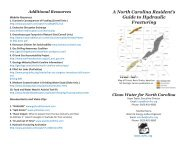 A North Carolina Resident's Guide to Hydraulic Fracturing