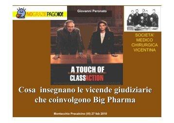 Big Pharma un tocco di class (action) - Società Medico Chirurgica ...