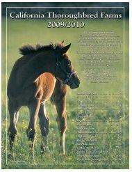 California Thoroughbred Farms 2009/2010 California Thoroughbred ...