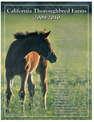 California Thoroughbred Farms 2009/2010 California Thoroughbred ...