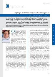 Aplicação das IFRS nas concessões de serviços públicos
