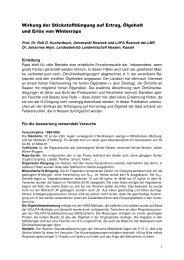 Wirkung der N-Düngung auf Ertrag, Ölgehalt - LUFA Rostock der LMS