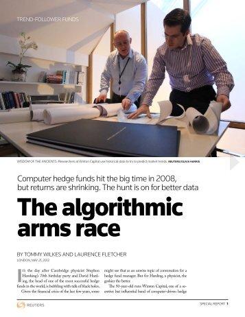 The algorithmic arms race - Thomson Reuters