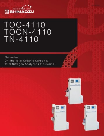 TOC-4110 TOCN-4110 TN-4110 - Shimadzu Scientific Instruments