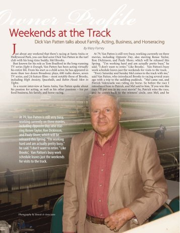 Weekends at the Track: Dick Van Patten (Spring - TOC