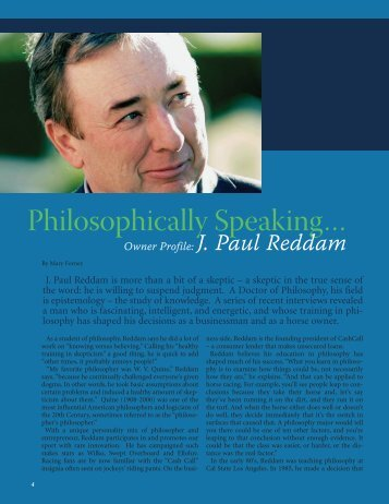 Philosophically Speaking...J. Paul Reddam - TOC