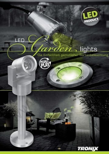 flyer LED garden lights - lightwolf
