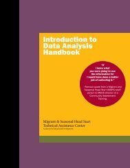 Introduction to Data Analysis Handbook - AED Center for Early Care ...