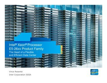 Intel® Xeon® Processor E5-26xx Product Family - IBM