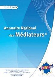 Annuaire des Centres de médiation 2010-2011 - Conférence des ...