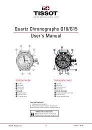 Quartz Chronographs G10/G15 User's Manual - Abt