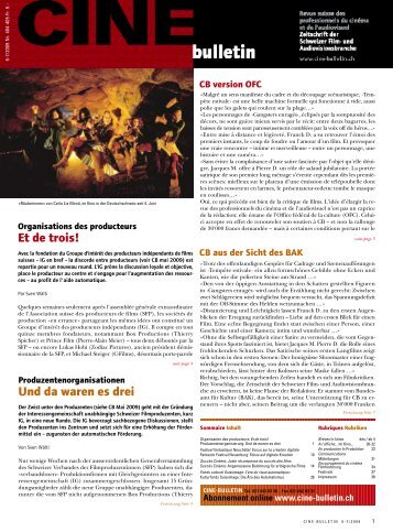 CB 404-405 Juni-Juli 2009 (PDF) - Cine-Bulletin