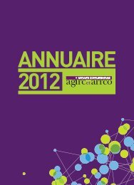 Annuaire 2012 - Agirc et Arrco