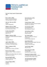 Liste YL FR 81 -10 - French-American Foundation France