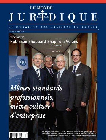 Mêmes standards professionnels, même culture d'entreprise