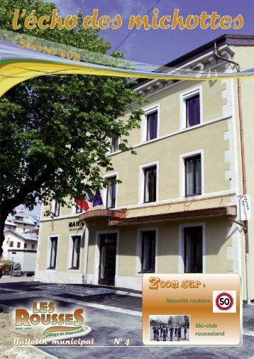 Bulletin municipal N0 4 - Commune des Rousses