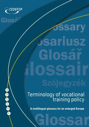 Terminology of vocational training policy - IEFP
