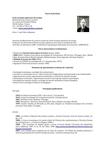 CV PP Zalio (français) - Melissa - ENS Cachan