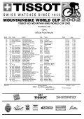 TISSOT-UCI MOUNTAIN BIKE WORLD CUP 2002 - Free - Page 2