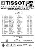 TISSOT-UCI MOUNTAIN BIKE WORLD CUP 2002 - Free - Page 3