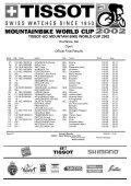 TISSOT-UCI MOUNTAIN BIKE WORLD CUP 2002 - Free - Page 4