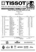 TISSOT-UCI MOUNTAIN BIKE WORLD CUP 2002 - Free - Page 6