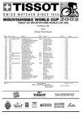 TISSOT-UCI MOUNTAIN BIKE WORLD CUP 2002 - Free - Page 7