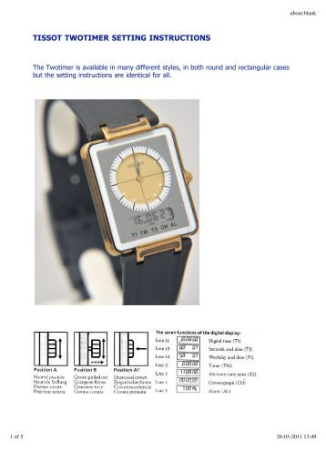 Instructions Analogdigital Atomic Watch Pointtec