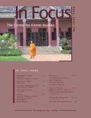 In focus 2003-2004.qxd - Center for Khmer Studies