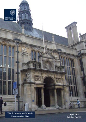 Examination Schools - Central Administration - University of Oxford
