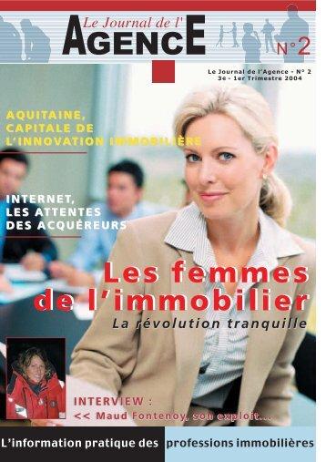 Les femmes de l'immobilier - Le journal de l'agence