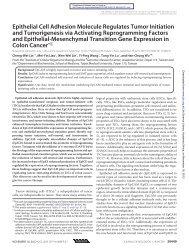 Epithelial Cell Adhesion Molecule Regulates ... - Academia Sinica