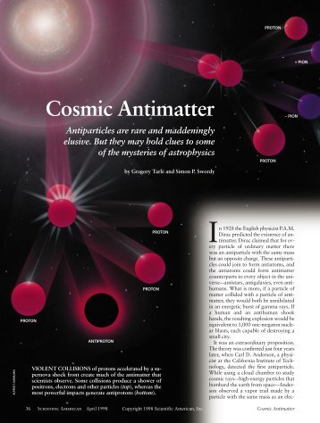 Cosmic Antimatter - Tufts Institute of Cosmology