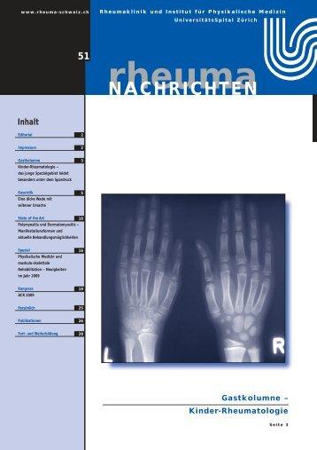 Kinder-Rheumatologie - Rheuma Schweiz