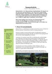Innmarksbeite er jordbruksareal som kan brukes ... - Skog og landskap