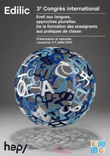 Eveil aux langues, approches plurielles De la formation ... - HEP Vaud