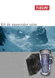 Kit de aquecedor solar - Sol Aroeira.
