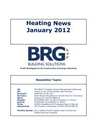Heating News January 2012 - BRG BUILDING SOLUTIONS