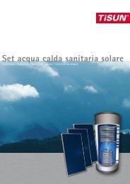 Set acqua calda sanitaria solare - Borgna Energia