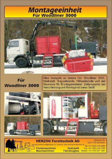 Montageeinheit Woodliner - Herzog Forsttechnik