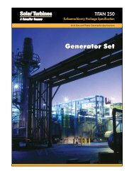Taurus 60 Generator Set - Solar Turbines - Caterpillar Inc.