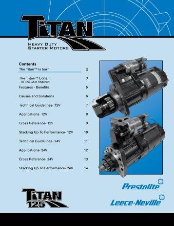Heavy Duty Starter Motors - Prestolite Electric Inc.