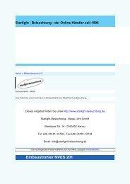 Einbaustrahler NVES 201 - Beleuchtung